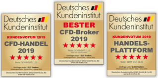 Deutsches Kundeninstitut Bester Broker 2019.
