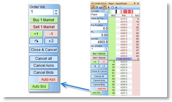 Trading platform with automated multiple stops and targets (building and reducing positions).