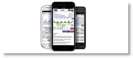Mobile trading platform for stocks (web, browser, tablet, iPad, iPhone)